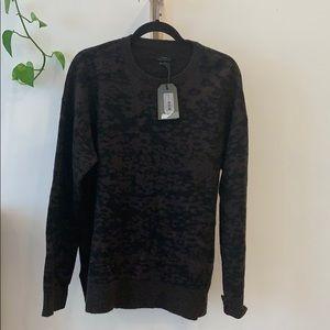all saints magma crew neck sweater